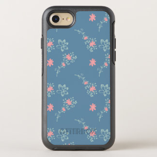 Pink and Blue flowers OtterBox Symmetry iPhone 8/7 Case