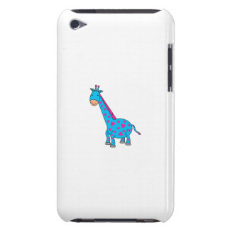 Pink and blue giraffe iPod touch Case-Mate case