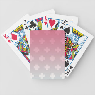 Pink and Blue Gradient Bicycle Playing Cards