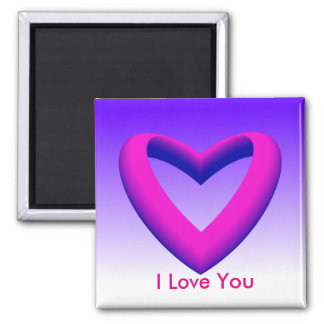 Pink and Blue Gradient Heart Magnet