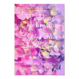 Pink and Blue Hydrangea Wedding collection Card