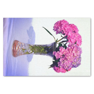Pink and Blue Hydrangeas Tissue Paper