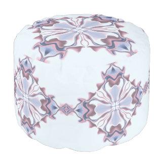Pink and Blue Lacy Diamond Kaleidoscope Pouf
