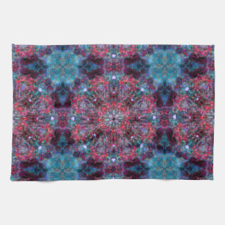 Pink and Blue Mandala Tea Towel