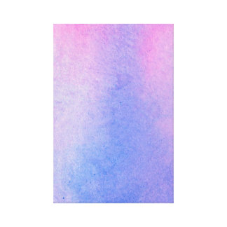 Pink and Blue Marble Watercolour Canvas Print
