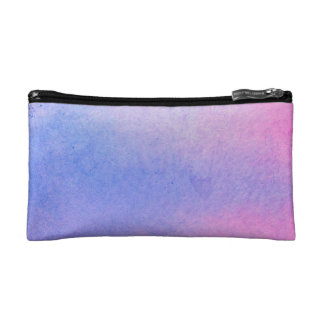 Pink and Blue Marble Watercolour Cosmetic Bag