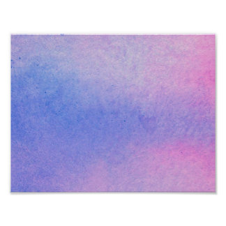 Pink and Blue Marble Watercolour Poster