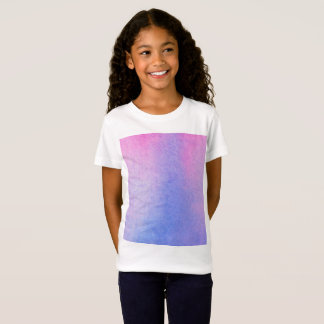 Pink and Blue Marble Watercolour T-Shirt