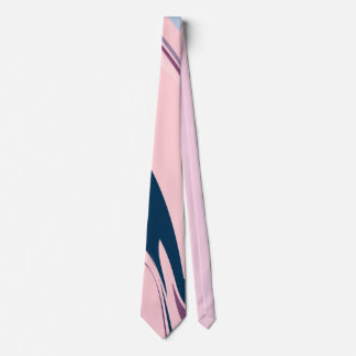Pink and blue modern pattern Tie