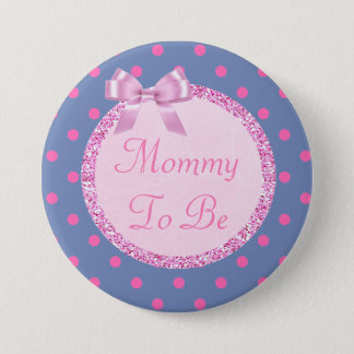 Pink and Blue Mommy to Be Baby Shower Pin