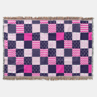 Pink and Blue Nautical baby blanket 2
