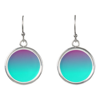 Pink and Blue Ombre Earrings