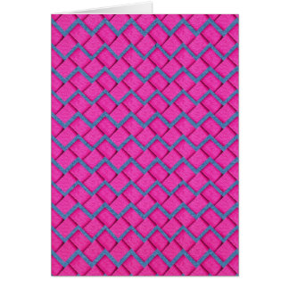 Pink and Blue Paper Zig Zag Card