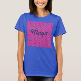 Pink and Blue Paper Zig Zag T-Shirt