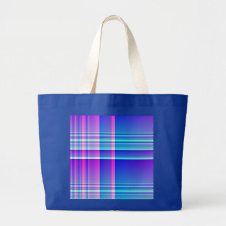 Pink and Blue Plaid Canvas Bags