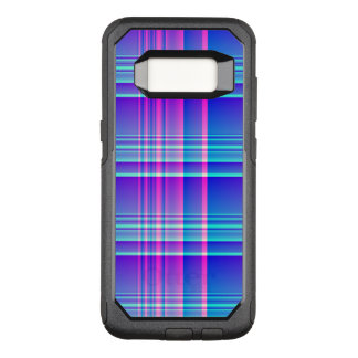 Pink and Blue Plaid Checkered OtterBox Commuter Samsung Galaxy S8 Case