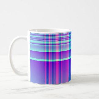 Pink and Blue Plaid Mugs
