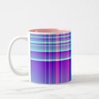 Pink and Blue Plaid Mug
