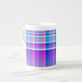 Pink and Blue Plaid Porcelain Mug