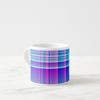 Pink and Blue Plaid Espresso Cups