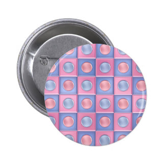 Pink and Blue Polka Dots Button