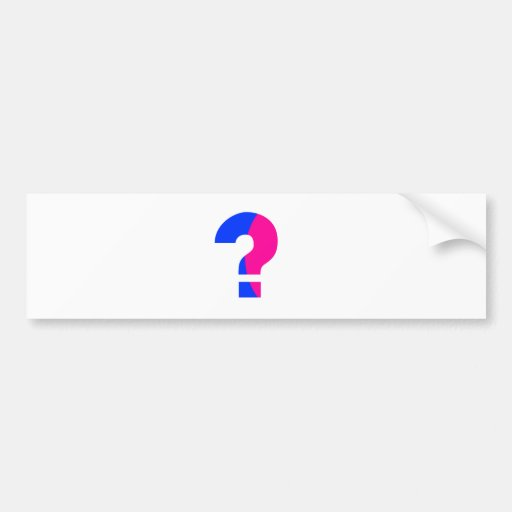 Pink and Blue Question Bumper Stickers