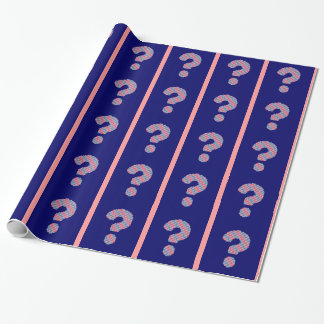 Pink and Blue Question Mark Wrapping Paper