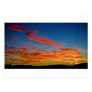 pink and blue sky postcard