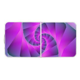 Pink and Blue Spiral Beer Pong Table