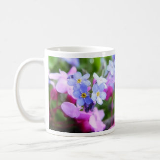 Pink And Blue Spring Flowers Mugs
