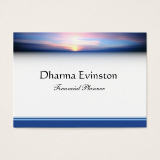 Pink and Blue Sunset Business Card