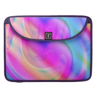 Pink And Blue Swirl Sleeve For MacBook Pro