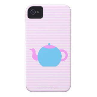 Pink and Blue Teapot Picture. iPhone 4 Cases