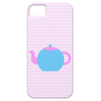 Pink and Blue Teapot Picture. iPhone 5 Case
