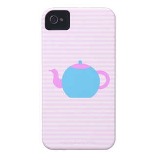 Pink and Blue Teapot Picture. iPhone 4 Case-Mate Case