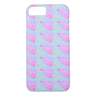 Pink and Blue Turtle Apple iPhone Case