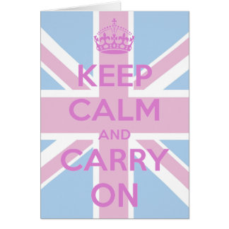 Pink and Blue Union Jack Card