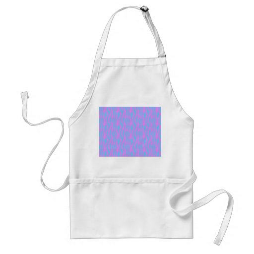 Pink and Blue Zebra Stripes Apron
