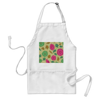 Pink and Bright Teal Vintage Floral Aprons