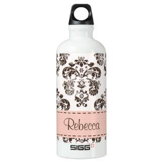 Pink and Brown Damask BPA Free SIGG Traveller 0.6L Water Bottle