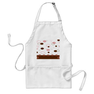 Pink and Brown Dots Adult Apron