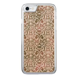 Pink and Brown Heathered Batik Shibori Damask Carved iPhone 8/7 Case