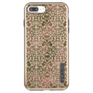 Pink and Brown Heathered Batik Shibori Damask Incipio DualPro Shine iPhone 8 Plus/7 Plus Case