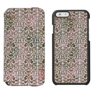 Pink and Brown Heathered Batik Shibori Damask Incipio Watson™ iPhone 6 Wallet Case
