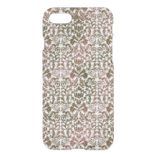Pink and Brown Heathered Batik Shibori Damask iPhone 7 Case