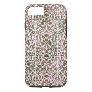 Pink and Brown Heathered Batik Shibori Damask iPhone 8/7 Case