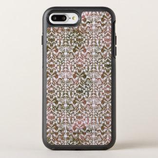 Pink and Brown Heathered Batik Shibori Damask OtterBox Symmetry iPhone 8 Plus/7 Plus Case