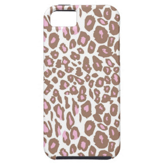 Pink and Brown Leopard Print Case For The iPhone 5