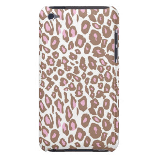 Pink and Brown Leopard Print iPod Case-Mate Case