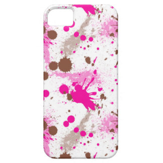 Pink and Brown Paint Splatter iPhone 5 Cases